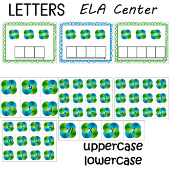 Alphabet Upper and Lower Case Cards for Preschool, Pre-K, and K Activities