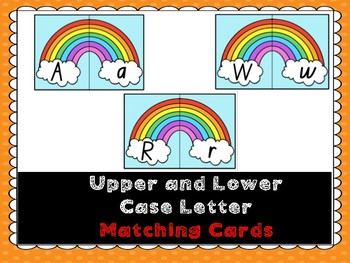 Alphabet Upper and Lower Case Letter Matching Cards