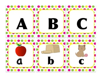Alphabet Upper and Lower and Initial Sound Match or Memory, Literacy Centres