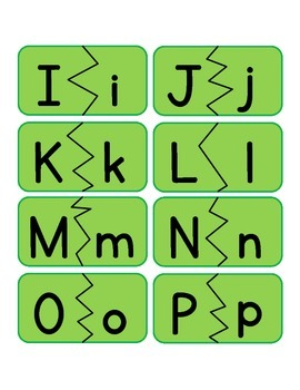 Alphabet - Upper and Lowercase Puzzle (Match)