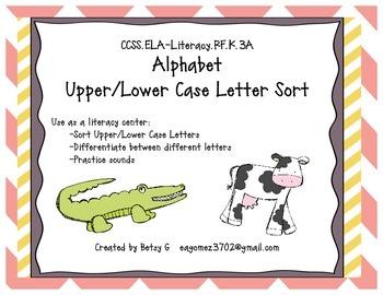 Alphabet Upper/Lower Case Match Up