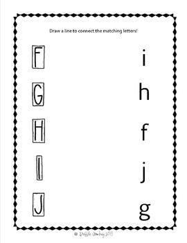 Alphabet Upper/Lowercase Letter Matching & Short Vowel Sound Matching Center