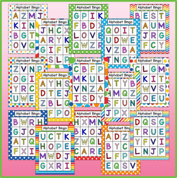 Alphabet Uppercase AND Lowercase Letter Bingo Bundle