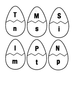 Alphabet - Uppercase/Capital Lowercase Egg Match