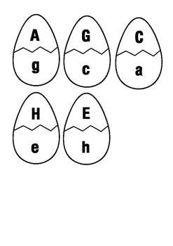 Alphabet - Uppercase/Capital Lowercase Egg Match