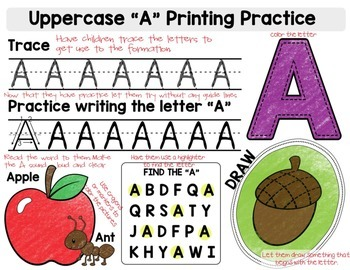 Alphabet Uppercase Learning Packet