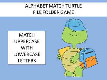 Alphabet Uppercase-Lowercase Match File Folder Game