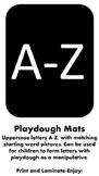 Alphabet Uppercase Playdough Mats