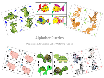 Alphabet Uppercase and Lowercase Puzzles