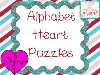 Alphabet Valentine Heart Puzzles