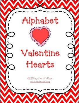 Alphabet Valentine Hearts