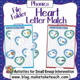 Alphabet - Valentine Themed File Folder Alphabet Match