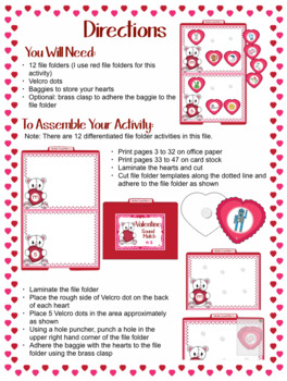 Alphabet - Valentine Themed File Folder Beginning Sound Match