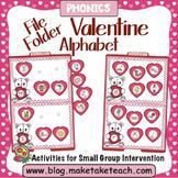 Alphabet - Valentine Themed File Folder Beginning Sound Match