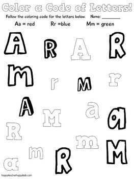 Alphabet Value Bundle #1: Letters A-M, Letter of the Week, RTI