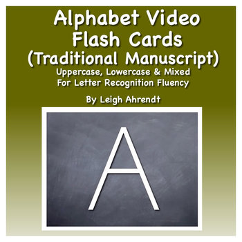 Alphabet Video Flash Cards (Traditional Manuscript)