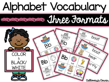 Alphabet Vocabulary Cards
