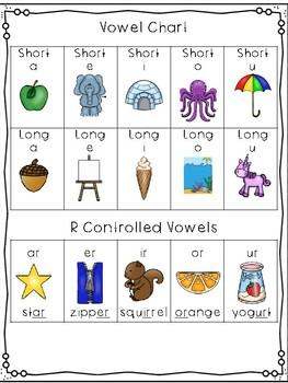 Alphabet & Vowel Chart Freebie