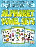Alphabet Vowel Letters Clipart Mega Bundle {Zip-A-Dee-Doo-Dah Designs}
