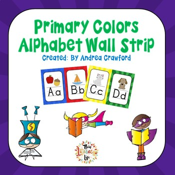 Alphabet Wall Banner Strip: Primary Colors