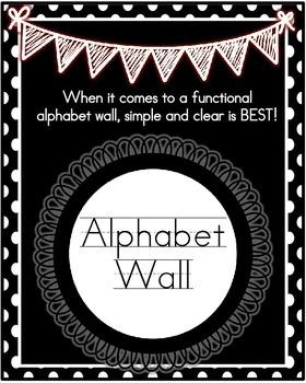 Alphabet Wall- Black Polka Dots with Real Photos
