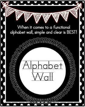 Alphabet Wall- Black Polka Dots with Real Photos