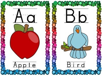 Alphabet Wall Card Display PRIMARY