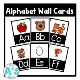 Alphabet Wall Card Posters (Black Block)
