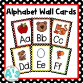 Alphabet Wall Card Posters (Black Dots)