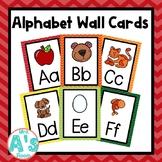 Alphabet Wall Card Posters (Rainbow Chevron)