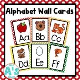 Alphabet Wall Card Posters (Rainbow Dots)