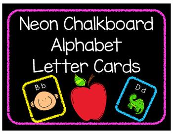 Neon Chalkboard Alphabet Wall