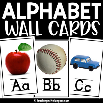 Alphabet Wall Cards (Real Life Photo Alphabet Cards)