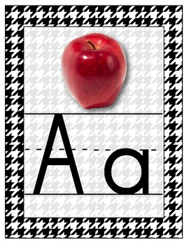 Houndstooth Alphabet Wall Cards