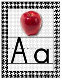 Houndstooth Alphabet Wall Cards