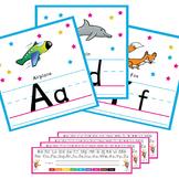 Alphabet Wall Cards + Alphabet Desk Strips +  CD Alphabet