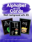 Alphabet Wall Cards Black with ASL