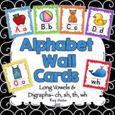 Alphabet Wall Cards - Bright Swirls