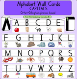 Alphabet Wall Cards - CAPITALS: Orton-Gillingham phonics based