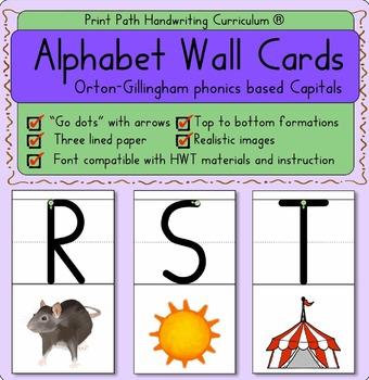 Alphabet Wall Cards Capitals Orton Gillingham Phonics
