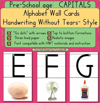 CAPITAL Wall Cards for Preschool