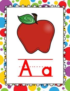 Alphabet Wall Cards - Circus Theme
