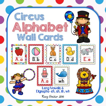 Alphabet Wall Cards - Circus Theme