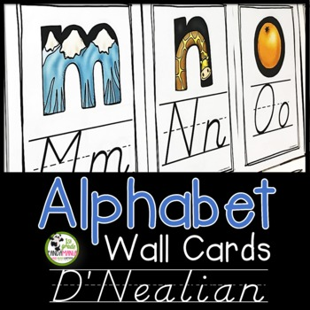 Alphabet Wall Cards {D'Nealian}