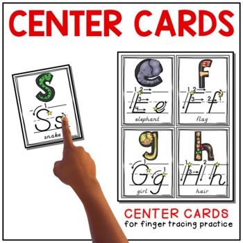 Alphabet Wall and Center Cards {D'Nealian}