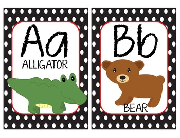 Alphabet Wall Cards - Matches Ladybug Theme