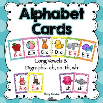 Alphabet Wall Cards - Polka Dots