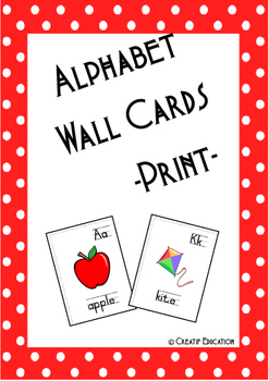 Alphabet Wall  Cards - Print