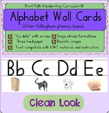 Alphabet Wall Cards: Orton-Gillingham Keywords ~Single stroke letter formations