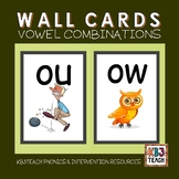 Alphabet Classroom Decor Wall Cards (Vowel Combinations &